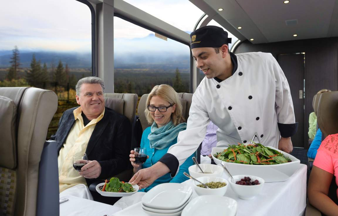Enjoy amazing service upon the Rocky Mountaineer