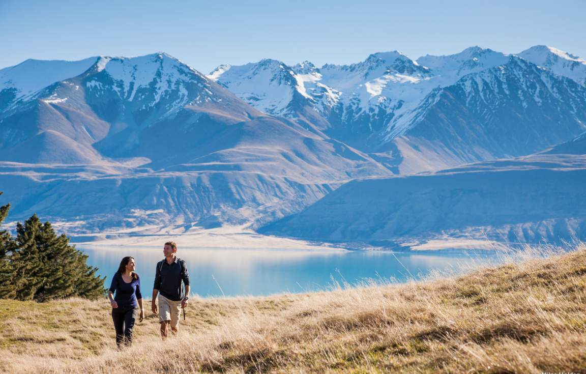 Scenic views of Mount Cook