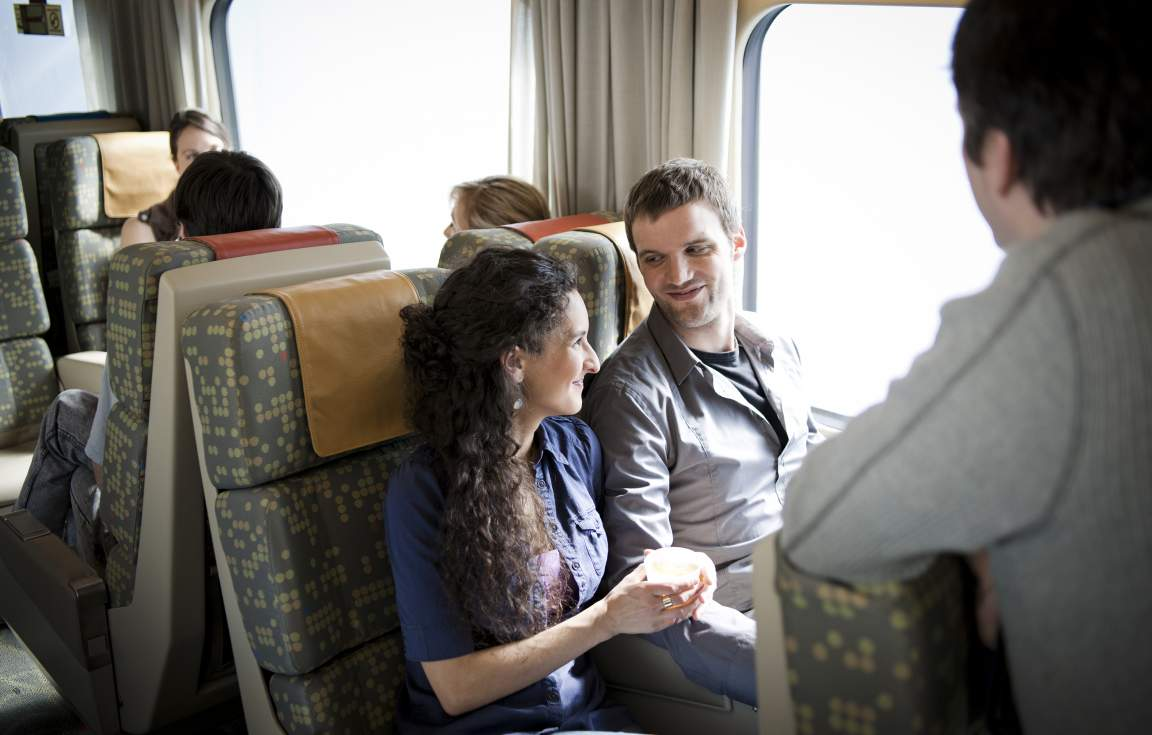 Travel onboard the VIA Train