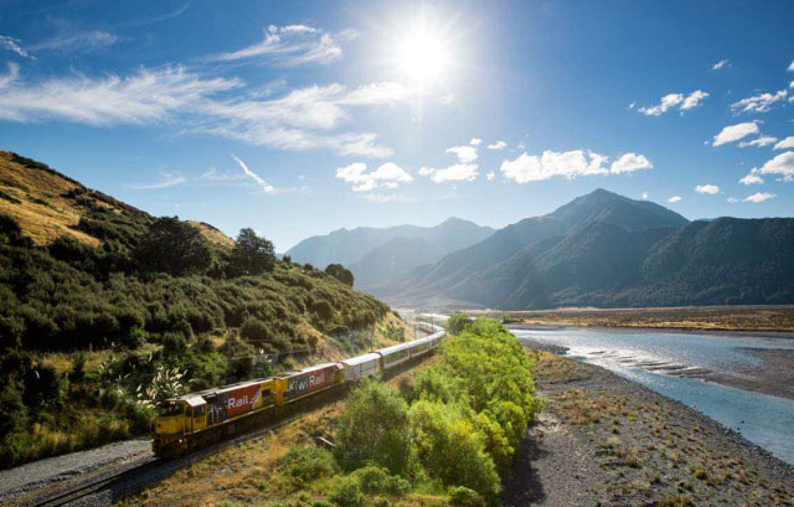 Take a journey on the TranzAlpine Train