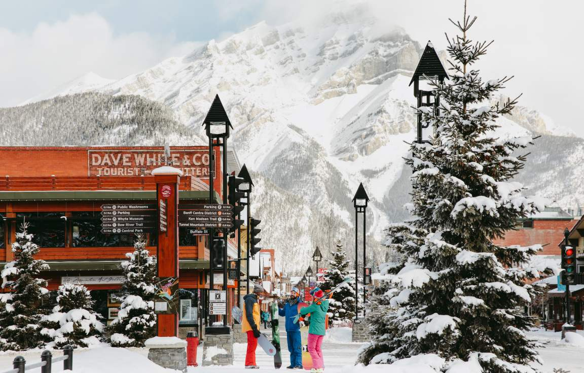 Banff Village Winter