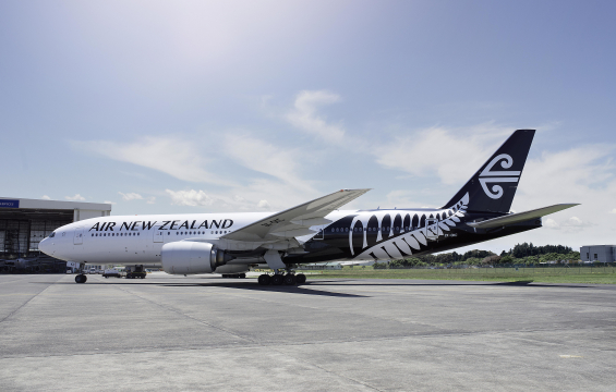 New Air NZ plane on ground