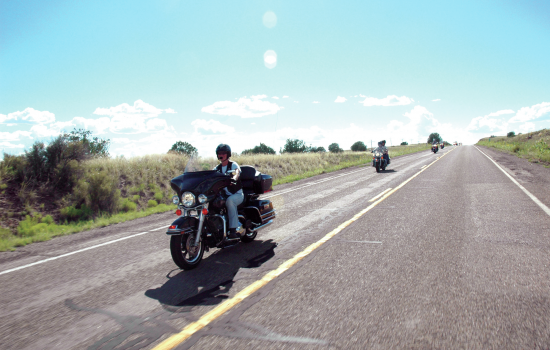 Motorcycle riders route 66