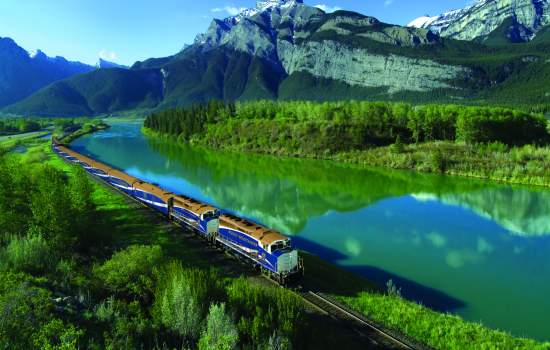 World famous Rocky Mountaineer train