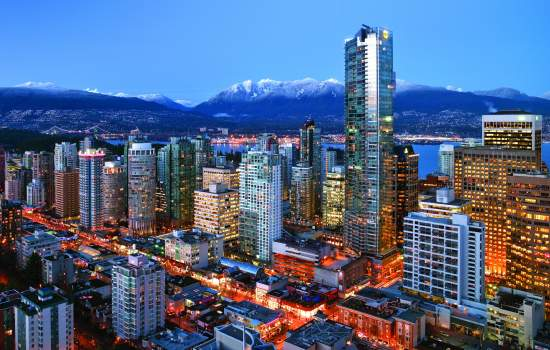 Vancouver's mountain backdrop